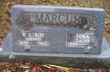 """MARCUM, W L  """"BOY"""" - Franklin County, Arkansas   W L  """"BOY"""" MARCUM - Arkansas Gravestone Photos"""