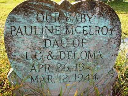 MCELROY, PAULINE - Franklin County, Arkansas   PAULINE MCELROY - Arkansas Gravestone Photos