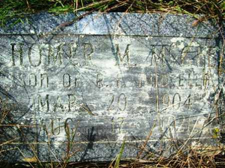 MCGEE, HOMER M - Franklin County, Arkansas | HOMER M MCGEE - Arkansas Gravestone Photos