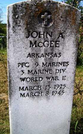 MCGEE (VETERAN WWII), JOHN ADRIAN - Franklin County, Arkansas | JOHN ADRIAN MCGEE (VETERAN WWII) - Arkansas Gravestone Photos