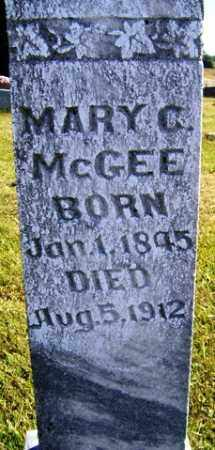 MCGEE, MARY C - Franklin County, Arkansas | MARY C MCGEE - Arkansas Gravestone Photos