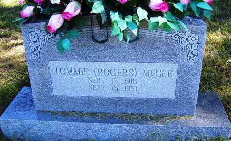 ROGERS MCGEE, TOMMIE - Franklin County, Arkansas | TOMMIE ROGERS MCGEE - Arkansas Gravestone Photos