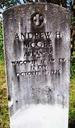 MCGEE (VETERAN), ANDREW H - Franklin County, Arkansas | ANDREW H MCGEE (VETERAN) - Arkansas Gravestone Photos