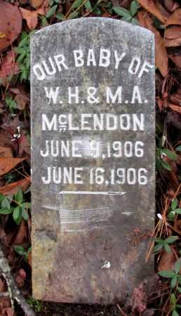 MCLENDON, BABY - Franklin County, Arkansas | BABY MCLENDON - Arkansas Gravestone Photos