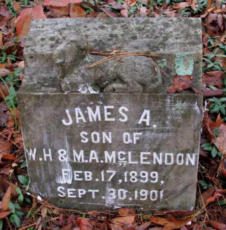 MCLENDON, JAMES A - Franklin County, Arkansas   JAMES A MCLENDON - Arkansas Gravestone Photos