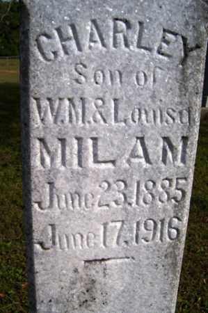MILAM, CHARLEY - Franklin County, Arkansas | CHARLEY MILAM - Arkansas Gravestone Photos