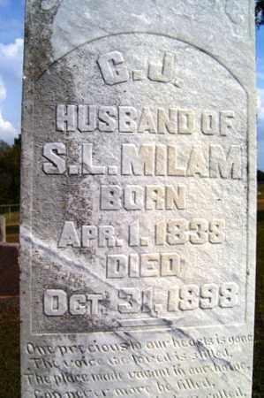 MILAM, C  J - Franklin County, Arkansas | C  J MILAM - Arkansas Gravestone Photos