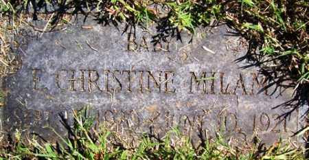 MILAM, E  CHRISTINE - Franklin County, Arkansas | E  CHRISTINE MILAM - Arkansas Gravestone Photos