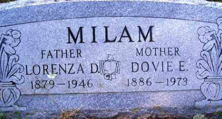 MILAM, LORENZA D. - Franklin County, Arkansas | LORENZA D. MILAM - Arkansas Gravestone Photos