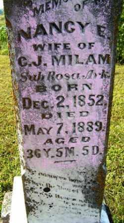 MILAM, NANCY E - Franklin County, Arkansas | NANCY E MILAM - Arkansas Gravestone Photos