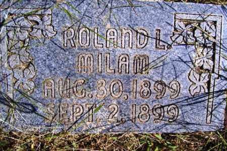 MILAM, ROLAND  L - Franklin County, Arkansas   ROLAND  L MILAM - Arkansas Gravestone Photos