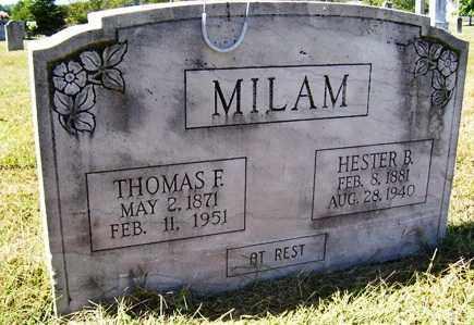 MILAM, HESTER B - Franklin County, Arkansas   HESTER B MILAM - Arkansas Gravestone Photos