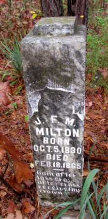MILTON, J F M - Franklin County, Arkansas   J F M MILTON - Arkansas Gravestone Photos