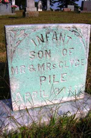 PILE, INFANT SON - Franklin County, Arkansas | INFANT SON PILE - Arkansas Gravestone Photos