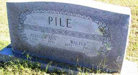 PILE, WALTER - Franklin County, Arkansas | WALTER PILE - Arkansas Gravestone Photos