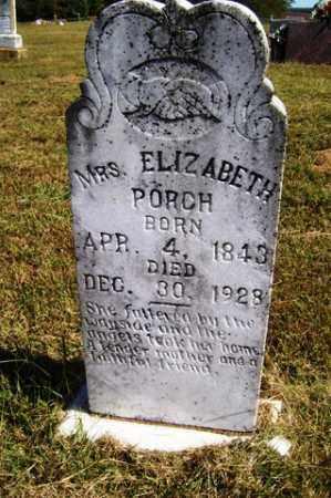 PORCH, ELIZABETH - Franklin County, Arkansas   ELIZABETH PORCH - Arkansas Gravestone Photos