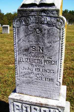 PORCH, S N - Franklin County, Arkansas | S N PORCH - Arkansas Gravestone Photos