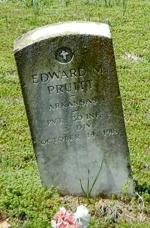 PRUITT (VETERAN), EDWARD M - Franklin County, Arkansas   EDWARD M PRUITT (VETERAN) - Arkansas Gravestone Photos