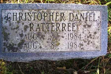 RATTERREE, CHRISTOPHER DANIEL - Franklin County, Arkansas | CHRISTOPHER DANIEL RATTERREE - Arkansas Gravestone Photos