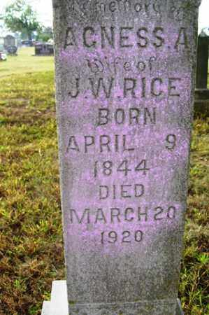 RICE, AGNESS A - Franklin County, Arkansas | AGNESS A RICE - Arkansas Gravestone Photos