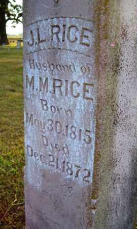 RICE, J. L. - Franklin County, Arkansas   J. L. RICE - Arkansas Gravestone Photos