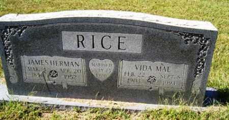 RICE, JAMES HERMAN - Franklin County, Arkansas | JAMES HERMAN RICE - Arkansas Gravestone Photos