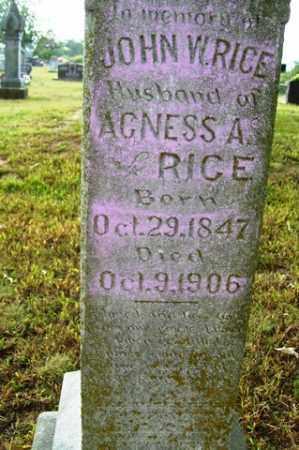 RICE, JOHN W. - Franklin County, Arkansas   JOHN W. RICE - Arkansas Gravestone Photos