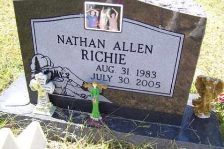 RICHIE, NATHAN ALLEN - Franklin County, Arkansas   NATHAN ALLEN RICHIE - Arkansas Gravestone Photos