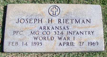 RIETMAN VETERAN WWI), JOSEPH H - Franklin County, Arkansas | JOSEPH H RIETMAN VETERAN WWI) - Arkansas Gravestone Photos
