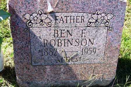 ROBINSON, BEN F. - Franklin County, Arkansas | BEN F. ROBINSON - Arkansas Gravestone Photos
