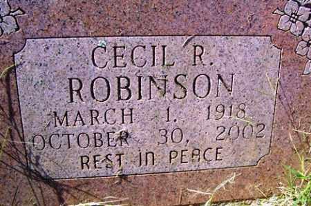 ROBINSON, CECIL R - Franklin County, Arkansas | CECIL R ROBINSON - Arkansas Gravestone Photos
