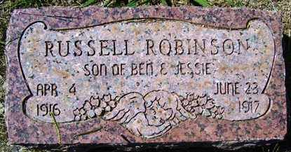 ROBINSON, RUSSELL - Franklin County, Arkansas | RUSSELL ROBINSON - Arkansas Gravestone Photos