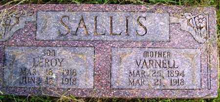 WELLS SALLIS, VARNELL - Franklin County, Arkansas | VARNELL WELLS SALLIS - Arkansas Gravestone Photos