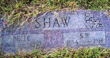 "SHAW, LAURIE DORA BELZONA ""BELLE"" - Franklin County, Arkansas | LAURIE DORA BELZONA ""BELLE"" SHAW - Arkansas Gravestone Photos"
