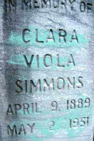 SIMMONS, CLARA VIOLA - Franklin County, Arkansas | CLARA VIOLA SIMMONS - Arkansas Gravestone Photos