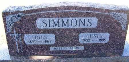 SIMMONS, GUSTA - Franklin County, Arkansas | GUSTA SIMMONS - Arkansas Gravestone Photos