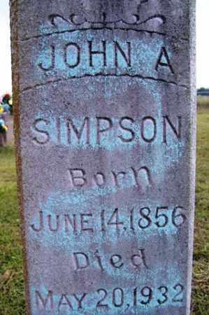SIMPSON, JOHN A. - Franklin County, Arkansas | JOHN A. SIMPSON - Arkansas Gravestone Photos