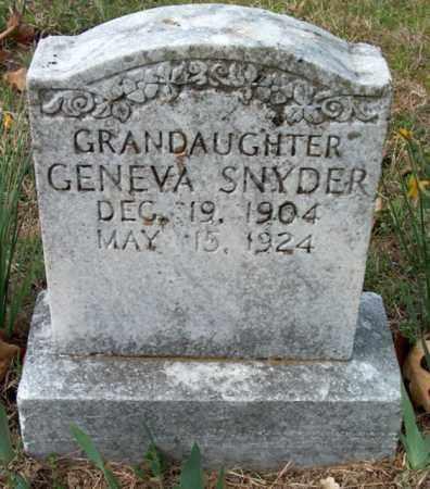SNYDER, GENEVA - Franklin County, Arkansas | GENEVA SNYDER - Arkansas Gravestone Photos