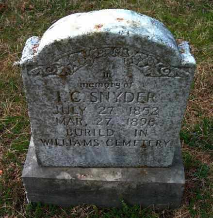 SNYDER, I C - Franklin County, Arkansas | I C SNYDER - Arkansas Gravestone Photos