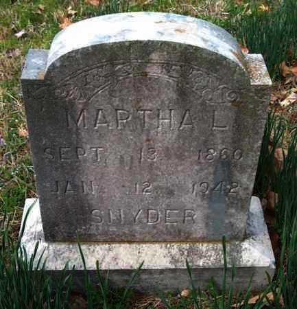 SNYDER, MARTHA L. - Franklin County, Arkansas | MARTHA L. SNYDER - Arkansas Gravestone Photos