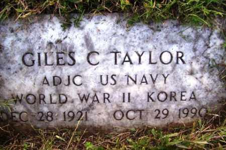TAYLOR (VETERAN 2 WARS), GILES C - Franklin County, Arkansas   GILES C TAYLOR (VETERAN 2 WARS) - Arkansas Gravestone Photos