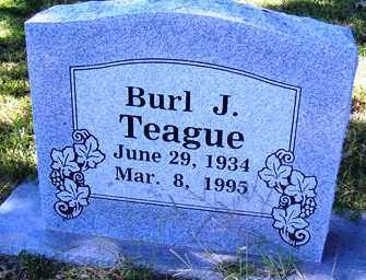 TEAGUE, BURL J. - Franklin County, Arkansas | BURL J. TEAGUE - Arkansas Gravestone Photos