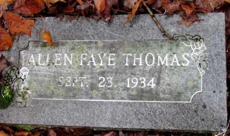 THOMAS, ALLEN FAYE - Franklin County, Arkansas | ALLEN FAYE THOMAS - Arkansas Gravestone Photos