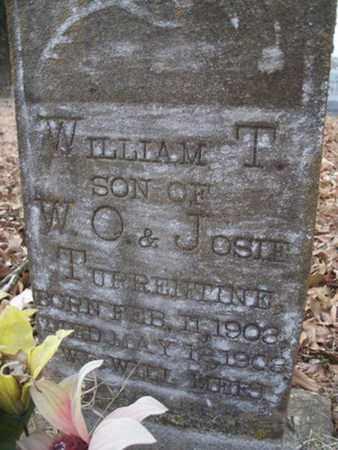 TURRENTINE, WILLIAM T - Franklin County, Arkansas | WILLIAM T TURRENTINE - Arkansas Gravestone Photos