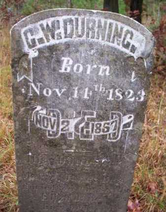 DURNING, G W - Franklin County, Arkansas | G W DURNING - Arkansas Gravestone Photos