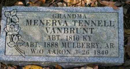 VANBRUNT, MENERVA - Franklin County, Arkansas | MENERVA VANBRUNT - Arkansas Gravestone Photos