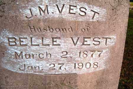 VEST, J  M - Franklin County, Arkansas | J  M VEST - Arkansas Gravestone Photos