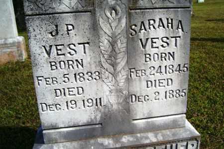 VEST, J. P. - Franklin County, Arkansas | J. P. VEST - Arkansas Gravestone Photos