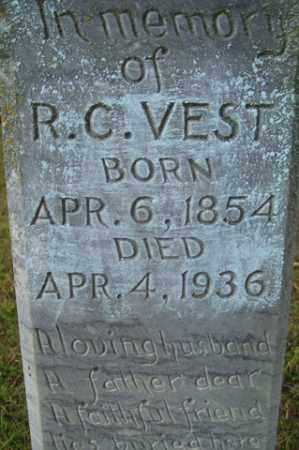 VEST, R  C - Franklin County, Arkansas | R  C VEST - Arkansas Gravestone Photos