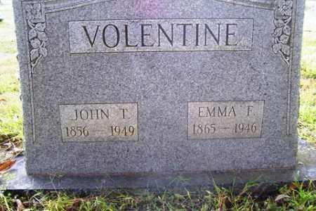 VOLENTINE, EMMA F. - Franklin County, Arkansas | EMMA F. VOLENTINE - Arkansas Gravestone Photos